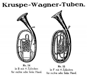 Wagner Tuben in Kruspe Catalogue