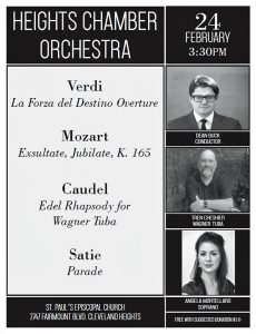 HCO flyer for Wagner tuba concert