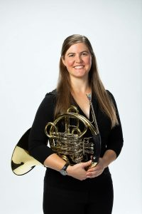 Molly Norcross French horn and Wagner tuba player