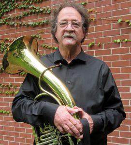 Denny McGinn with Wagner tuba