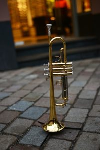 Trumpet outdoors