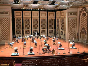 Cincinnati Symphony Orchestra on stage