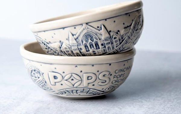 Rookwood Pottery Cincinnati Pops limited edition ice cream dish